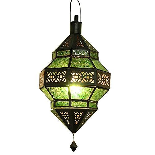 albena Marokko Galerie 13-157 Trob lámpara oriental estilo marroquí 30 cm cristal verde
