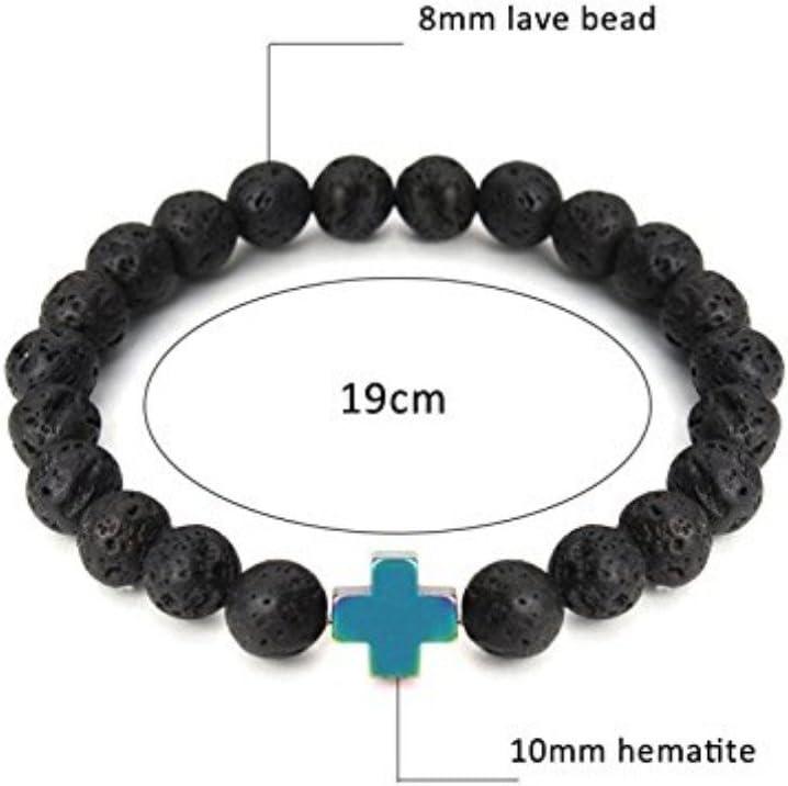 8mm Natural Black And White Fordite/&Hematite Beads,Mala Handmade Beaded Stretch Bracelet for Men/'s,Women Unisex,Jewelry Gift for Him or Her