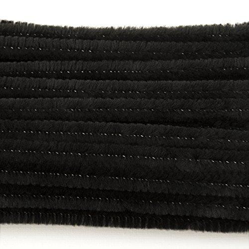 Vaessen Creative 1084-90 Pfeifenreiniger zum Basteln und Dekorieren, Cheniulle, Schwarz, 30 x 0.6 x 0.1 cm, 100-Einheiten