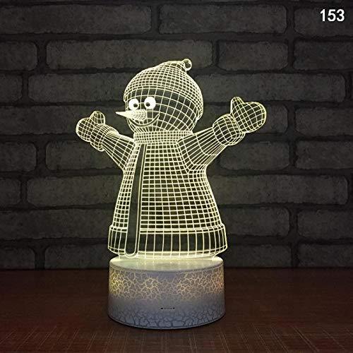 Dibujos animados Feliz Navidad Decoración Eva Divertido Lindo Papá Noel Despacho Caja de regalo Muñeco de nieve 3D LED Acrílico Escritorio Lámpara de mesa Luz de noche Niños Dormitorio Regalo presente