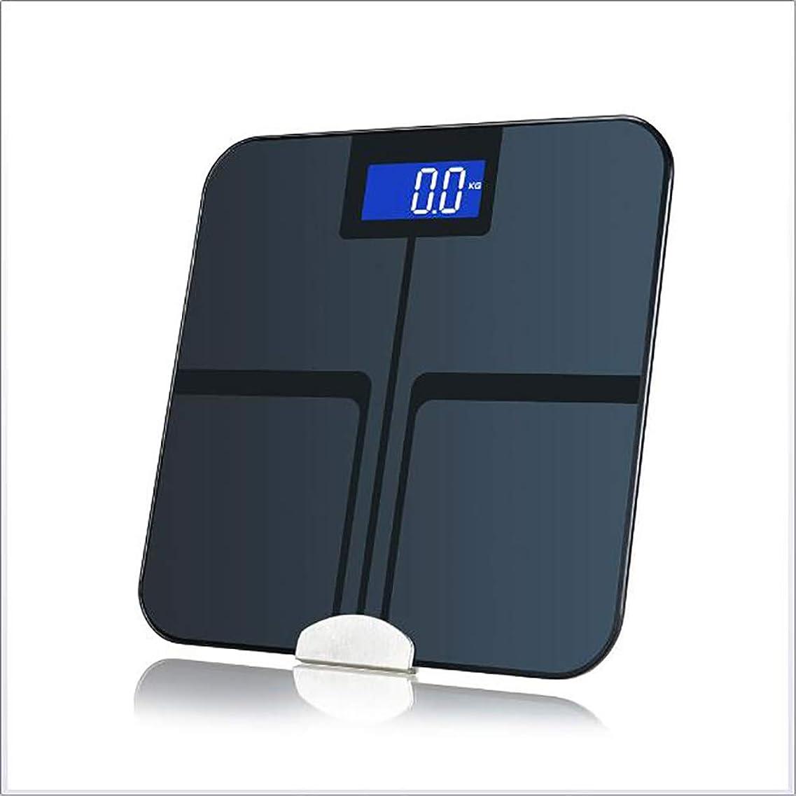 発掘対角線大胆ブルートゥース体脂肪スケール、スマートスケールワイヤレスバスルーム重量スケール、脂肪、BMI、BMR、筋肉量、水のための自動認識体組成計