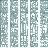 YNAK ステンシルシート アルファベット 大 数字 均等 テンプレート ステンシルプレート 型 メッセージ ジャーナルカード DIY 制作 (26cm×18cm) 20枚 セット