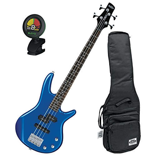 Ibanez GIO GSRM20SLB Mikro Starlight Blue 28.6' Scale 4 String Bass Guitar w/ Gig Bag and Tuner!