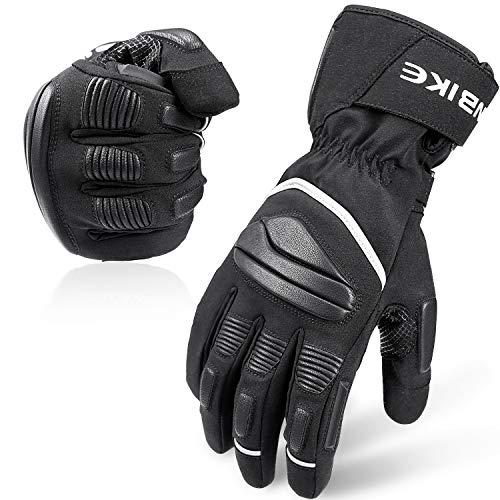 INBIKE Motorradhandschuhe Herren Winter Handschuhe Winddicht Wasserdicht mit 3M Thinsulate und HIPPRA Membran Schwarz L