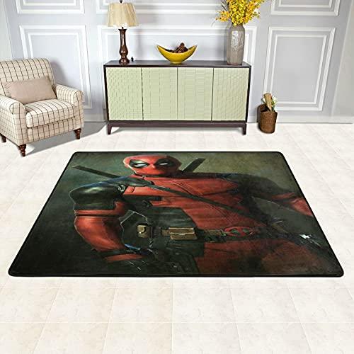 Cute Pillow Deadpool - Alfombra para guardería, alfombra para niños, alfombra de carretera, alfombra de coche, alfombra de juego, decoración de habitación de niños, 91 x 61 cm