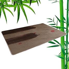 ACUIPP Tapis de Couloir Tapis En Bambou Tapis En Rotin Naturel Tapis D'Été Tapis En Bambou Tressé Tapis Rampant Cool Pad…