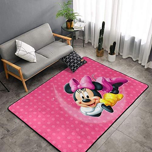 Hermosa alfombra de Minnie Mouse para dormitorio, camping, manta para niños y niñas, guardería, hogar, habitación cómoda y...