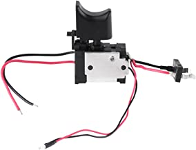 Interruptor de taladro eléctrico, batería de litio de 12 V, interruptor de disparo de control de velocidad inalámbrico con luz pequeña