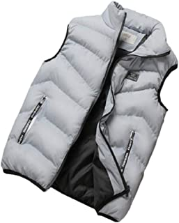 Sodossny-AU Mens Winter Down Vest Warm Quilted Packable Puffer Sleeveless Jacket
