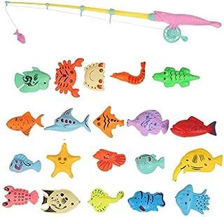 superjunior 22ピー釣りおゃ 魚りゲーム 磁 さかなつーム マネト式 フィング ゲー 水び 釣り遊り お呂 プー 室具 子用 プレント