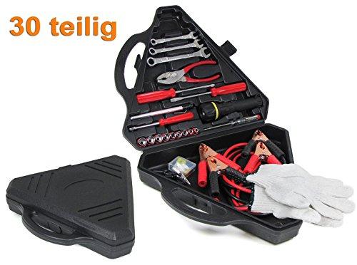 Carparts-Online 30059 Bordwerkzeug Notfall Werkzeugsatz Überbrückungskabel universal 30 teilig