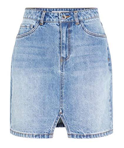 Echte Mode Jeansrock mit Schlitzen vorne Größe XS (Jeans, XL)