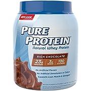 Pure Protein Whey Protein Powder, 2 Pound Tub