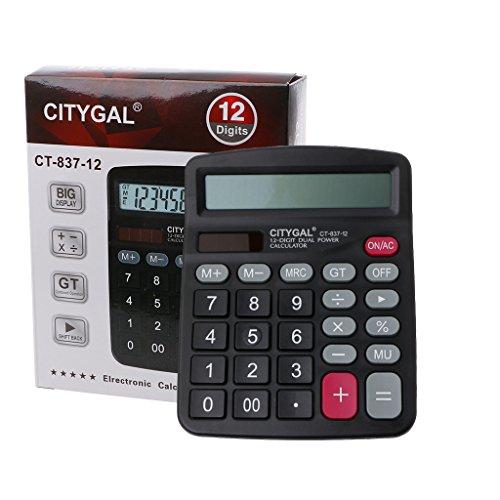 Freshsell Taschenrechner, 12 Ziffern, batteriebetrieben, für Büro und zu Hause