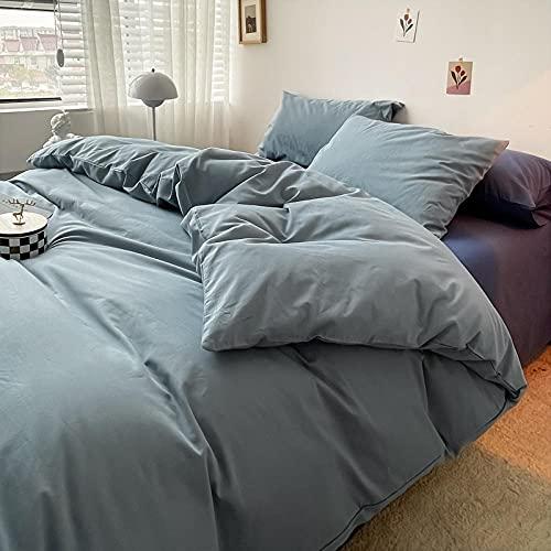 Sängkläder dubbel nya, jul king size påslakanset, nordisk minimalistisk vatten tvätt bomull, andas och icke-förlorade lakan har elasticitet och mjukhet – E_200 x 230 cm (79 x 91 tum) 4 st