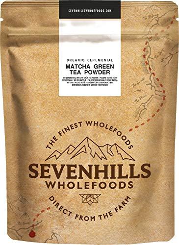 Sevenhills Wholefoods Rohes Japanisches Zeremoniell Matcha Grüner Tee Pulver Bio 100g