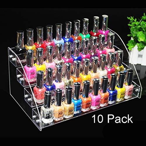 HYDD Acryl Display Stand Acryl Display Risers voor 31 * 18 * 14 cm(5,10,15,20,1,3 Pack) Nagellak Rack Plank Tafelblad Make-up Opslag Organiser Voor Essentiële Oliën Parfum