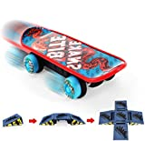 Remote Control Toys, Cool Toy Skateboards Remote Control, Skateboard toys with Small 4-Sided Skateboard Ramps and Rechargeable Batteries, Great Remote Toys for Boys and Girls