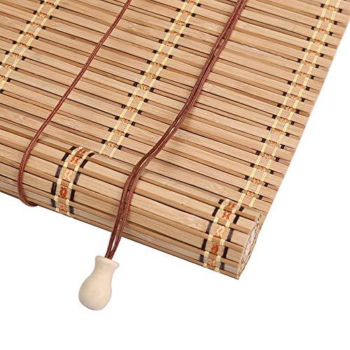 PMTX-Bamboo curtain Bambusrollos, Vorhänge Bambusvorhänge Insektenschutzvorhänge Balkon Wohnzimmer Teestube Sonnenschutzvorhänge, 20 Größen erhältlich (Size : 60x200cm(23.6