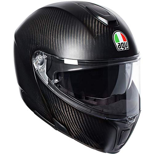 AGV Unisex-Adult Flip-Up Sport Modular Motorcycle Helmet (Black,...