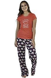 Ladies Moon /& Stars /'To the Moon /& Back/' Black Fleece Twosie Pyjamas In 4 Sizes