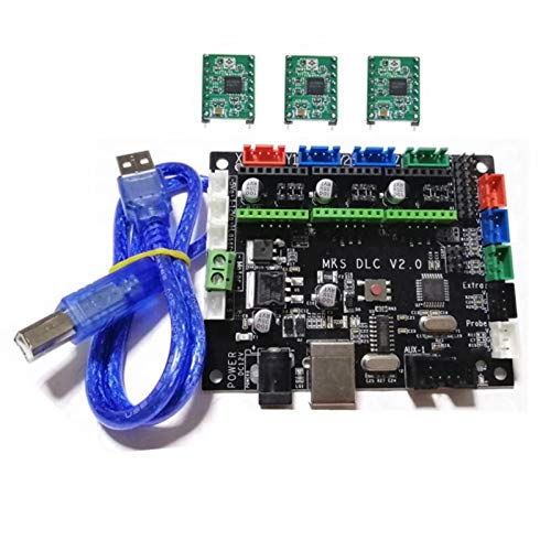 LAUREL GRBL 1.1 CNC Controller MKS DLC V2.0 GRBL Breakout Plate 3 Axis Steppe Driver Motherboard CNC Engraving Machine Monitor