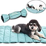 AmeriLuck Travel Pets Mat, Easy Carry Portable Bed Cover, 30'x22' Medium Size, Water-Resistant, Puppy Dog Cat Blankets for Indoor Outdoor - Perfect for Kennel, Carpet, Floors, Car Seats, Lawn, Couches