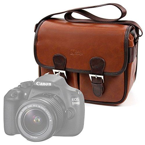 DURAGADGET Bolsa Profesional marrón con Compartimentos para Cámara Sony Handycam FDR-AX33 4KUHD