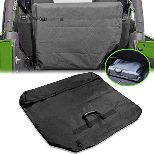 AL4X4 Compatible with Freedom Top Panels Hard Top Storage Bag with Grab Handle Car Roof Bag Cargo Carrier 2007-2020 Jeep Wrangler JK JKU JL JLU JT