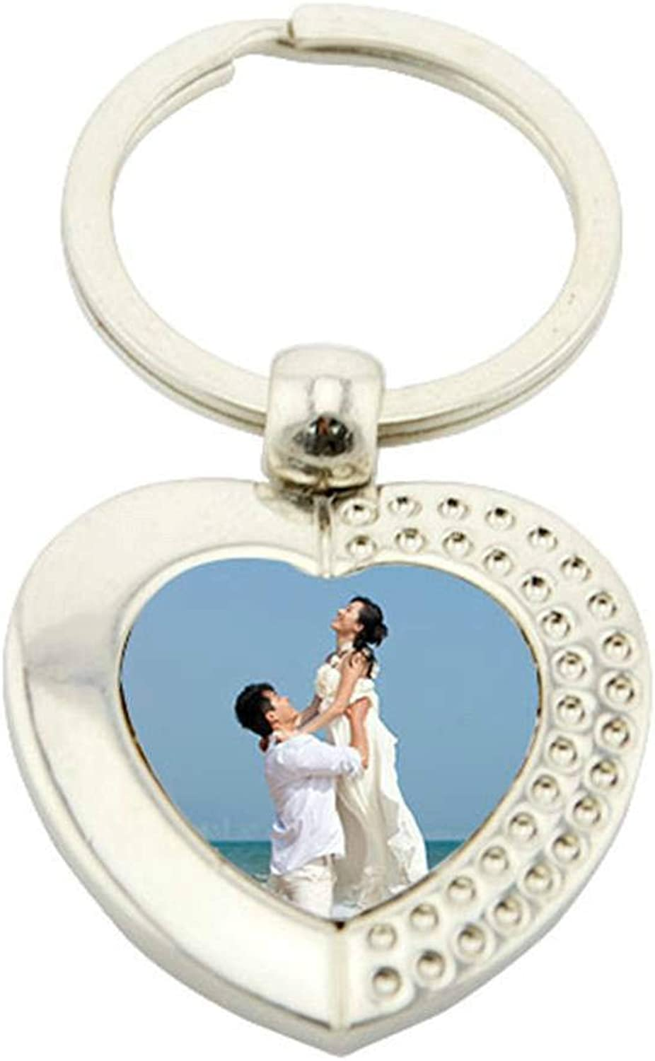 Metal Heart Shape Keyring With Sublimation Print Insert For Heat Press A55 (240 Qty)