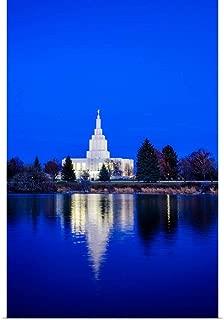 GREATBIGCANVAS Poster Print Idaho Falls Idaho Temple, Blue Twilight, Idaho Falls, Idaho by Scott Jarvie 12