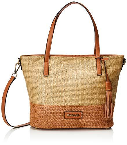 REFRESH 83251, Shopper para Mujer, Marrón (Camel), 33x28x13 cm (W x H x L)