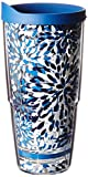 Tervis 1105084 Fiesta - Lapis Insulated Tumbler with Wrap and Blue Lid, 24oz, Calypso