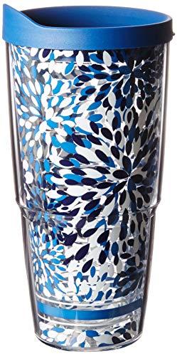 Tervis 1105084 Fiesta – Copo isolado com lápis e tampa azul, 680 g, Calypso