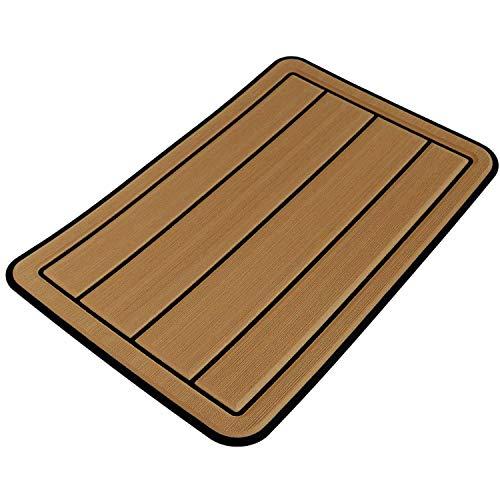 Castaway Customs | Seadek Foam Yeti Seat Cushion | 3M Adhesive Backing | Cooler Pad Accessory | Washable & Durable | Fits Tundra 35 | Mocha/Black