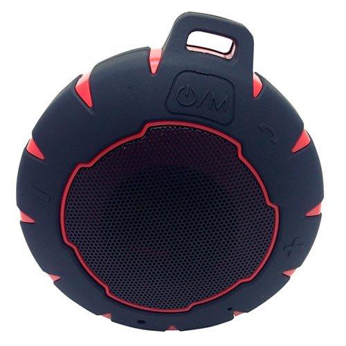 Phoenix Technologies PHAQUABOOM - Altavoz portátil (con Bluetooth, resistente al agua, con ventosa) color negro y rojo