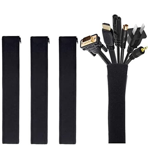 Adjustable Adhesive Cable Straps Cord Management Ties Mount Clips Black&White