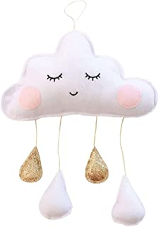 Echo Paths Baby Mobile Cloud Raindrop Nursery Wall Ceiling Crib Decoration Decor White-Golden M