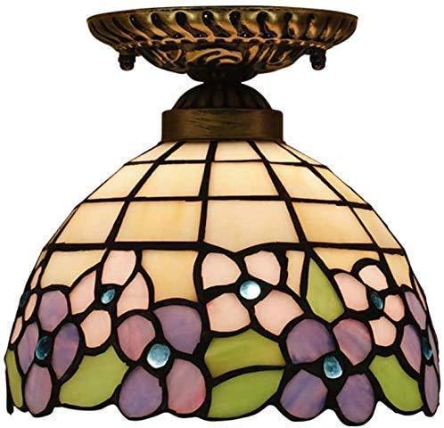RZM Lámpara de techo de 20,3 cm, para porche, balcón, techo, color rosa, morado, ciruela, decoración de tulipa (color: -, tamaño: -)