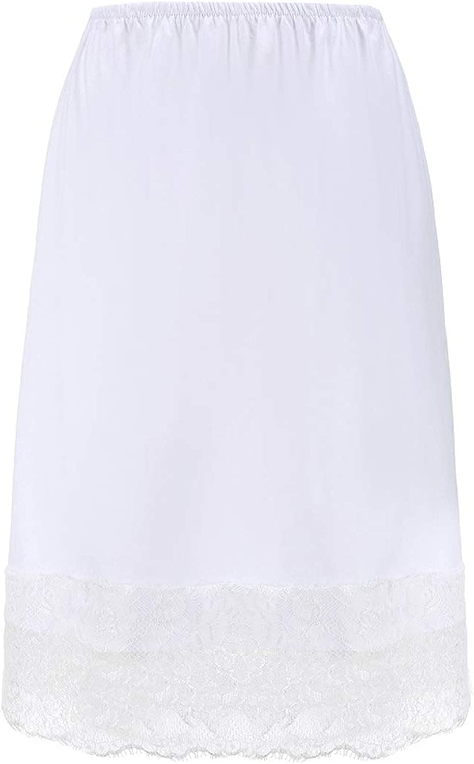 Women Lace Skirts Solid Casual Mesh Tulle Skirt Cotton Short Pencil Elastic Skirt
