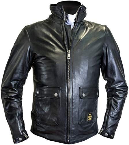 Helstons Motorradjacke mit Protektoren Motorrad Jacke Alpha Lederjacke schwarz 4XL, Herren, Chopper/Cruiser, Ganzjährig