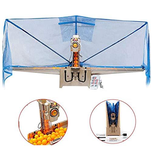 Pong Ballmaschine Tischtennis Maschine mit 36 verschiedenen Spin Bällen Automatisches Ballfangnetz Tischtennistrainer und kabellose Fernbedienung Ping-Pong-Übungsübung