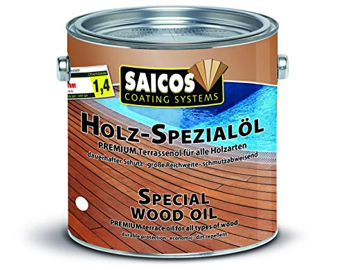 Saicos Colour GmbH 500 0113 Holzspezialöl, bangkirai, 2,5 Liter
