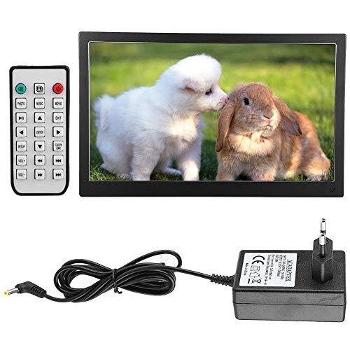 Digitaler Fotorahmen,15,6 Zoll 1920 x 1080 Hochauflösende 16: 9-HD-IPS-Bildschirme Aus Metall Digitale Bilderrahmen Autoplay-Unterstützung für Foto/Musik/Videoplayer 32 GB SD-Karte Fernbedienung(EU)