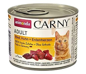 Animonda Carny Croquettes Mix2, Nourriture humide pour Chat Adulte, Mélanger 2 de 4 variétés, 12 x 200 g