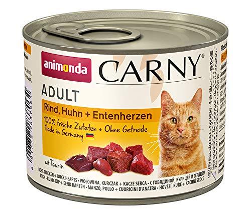 Animonda Carny Adult - Boeuf, Poulet et Canard - 6 x 200 g
