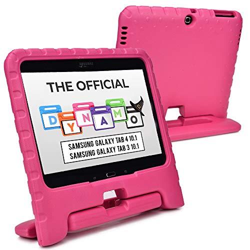 Cooper Hülles(TM) Dynamo Samsung Galaxy Tab 4 10.1 (T530/T531/T535) und 3 10.1 (P5200/P5210/P5220) Hülle für Kinder in Rosa (Leicht, ungiftiger EVA-Schaum, haltbares Design, Extraschutz, Freier Stand)
