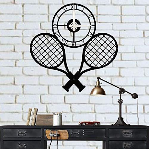 DEKADRON Orologio da parete in metallo – Orologio da tennis – Decorazione da parete in metallo – Orologio da parete in metallo – Orologio da parete grande