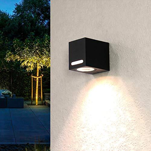 Buitenwandlamp aluminium vierkant IP44 buitenwand moderne AALBORG lamp buitenterras voordeur balkon