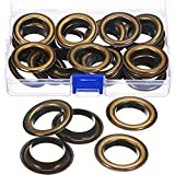 25 Sets 1-Inch Grommets Eyelets with Washers Antique Copper Grommet Kit for Leather, Tarp, Canvas